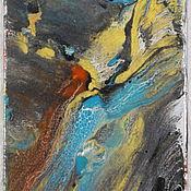 Картины и панно ручной работы. Ярмарка Мастеров - ручная работа Туманность Андромеды, Абстракция, витражная картина. Handmade.