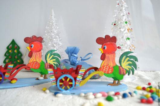 Новый год 2017 ручной работы. Ярмарка Мастеров - ручная работа. Купить Петушок символ 2017 года сувенир в подарок. Handmade.