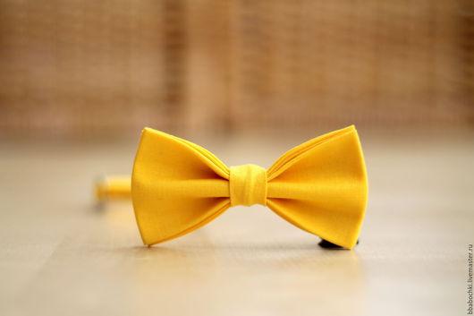 Галстуки, бабочки ручной работы. Ярмарка Мастеров - ручная работа. Купить Бабочка желтая однотонная детская/взрослая. Handmade. Желтый, солнце