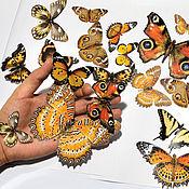 Для дома и интерьера ручной работы. Ярмарка Мастеров - ручная работа Светящиеся виниловые наклейки - Бабочки. Handmade.