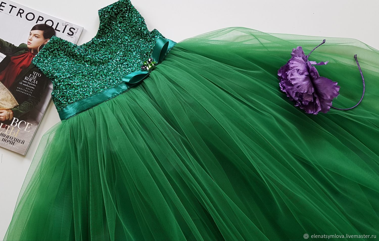 В НАЛИЧИИ! Детское платье Изумруд, Одежда, Москва,  Фото №1