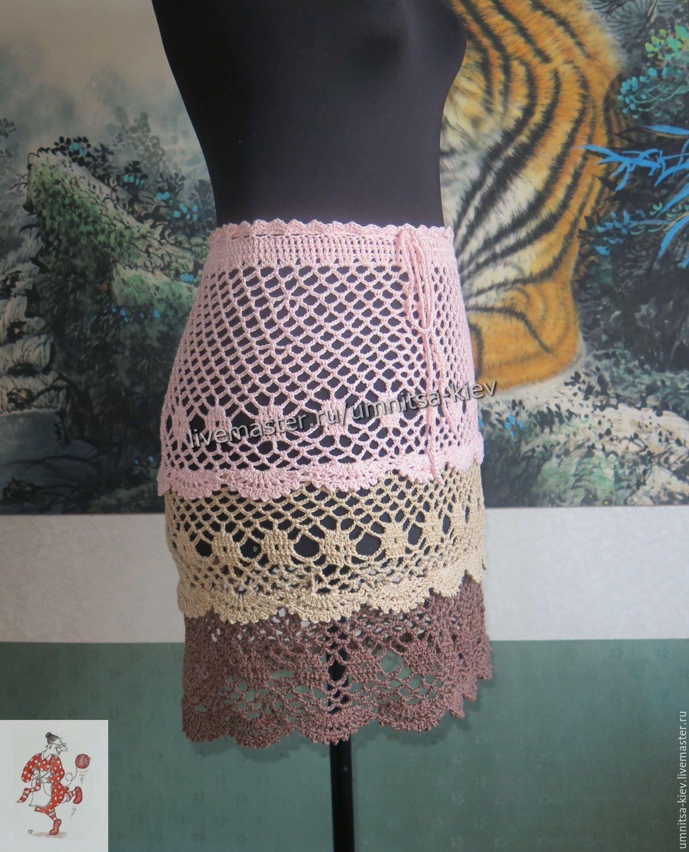 Вязаная сетка на юбку