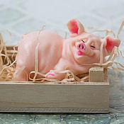 """Косметика ручной работы. Ярмарка Мастеров - ручная работа Мыло """"Довольная свинка"""". Handmade."""