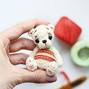 Куклы и игрушки ручной работы. Ярмарка Мастеров - ручная работа мини тэдди амигуруми мишка Сандиа. Handmade.