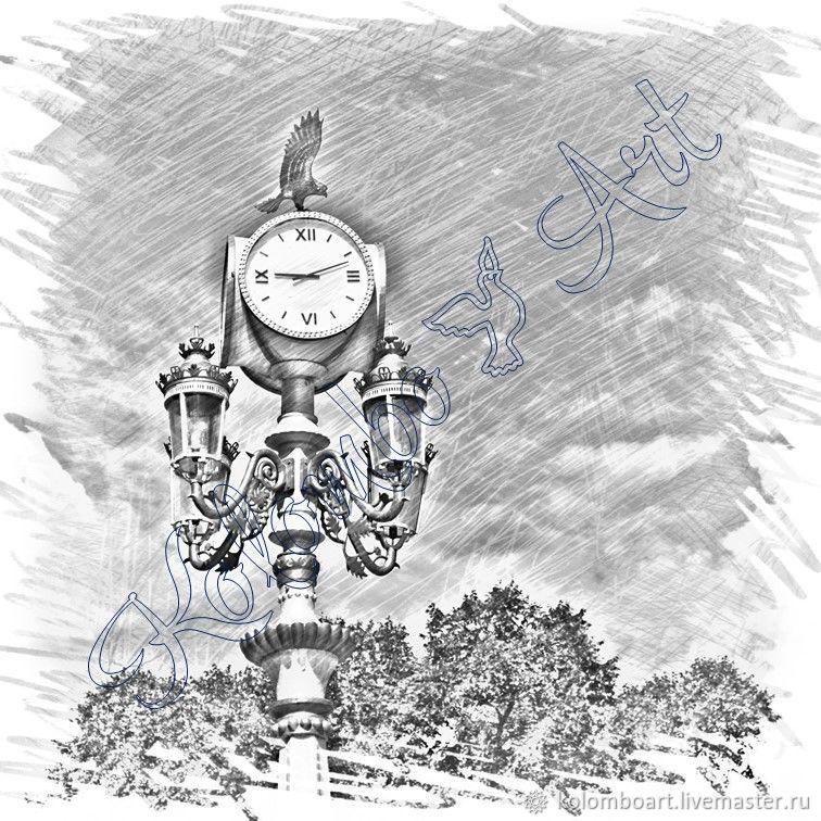 Фонарь-часы. Цифровой файл. Артикул cka-04-19, Фото-работы, Алматы, Фото №1