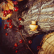 Украшения handmade. Livemaster - original item Aroma bottle made of birch wood for essential oils WP48. Handmade.