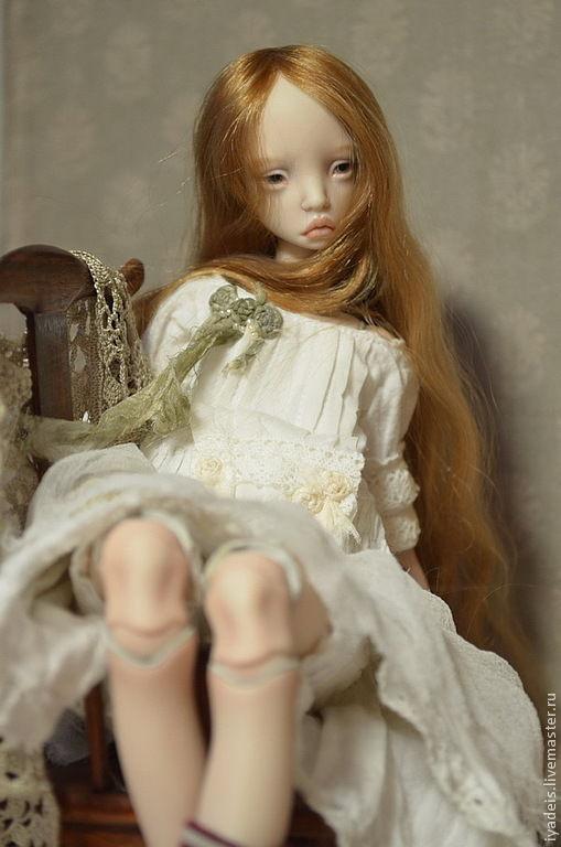 Коллекционные куклы ручной работы. Ярмарка Мастеров - ручная работа. Купить Ивона. Шарнирная кукла.. Handmade. Оранжевый, фарфоровая кукла