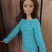 Куклы и игрушки ручной работы. Ярмарка Мастеров - ручная работа Одежда для Барби, свитер для Барби 4. Handmade.