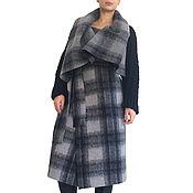 Одежда ручной работы. Ярмарка Мастеров - ручная работа Пальто с большой капюшон,в клетку  SAMURAI CHECKED. Handmade.