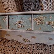 Для дома и интерьера ручной работы. Ярмарка Мастеров - ручная работа Полка с тремя ящиками. Handmade.