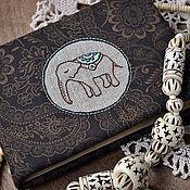 "Канцелярские товары ручной работы. Ярмарка Мастеров - ручная работа Блокнот А6 ""Little elephant"". Handmade."