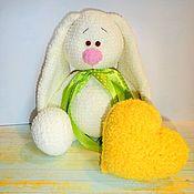 Куклы и игрушки handmade. Livemaster - original item Bunny plush with a heart. Handmade.