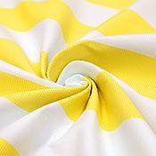 Материалы для творчества ручной работы. Ярмарка Мастеров - ручная работа Хлопковый репс в бело-желтую полоску D&G. Handmade.