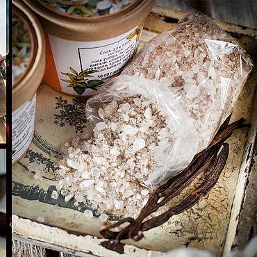 """Косметика ручной работы. Ярмарка Мастеров - ручная работа Соль для ванн """"Сладкая ваниль"""". Handmade."""