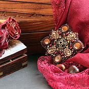 """Украшения ручной работы. Ярмарка Мастеров - ручная работа Брошь """"Вишня в шоколаде"""". Handmade."""