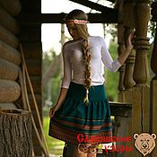 Одежда handmade. Livemaster - original item Skirt Slavic