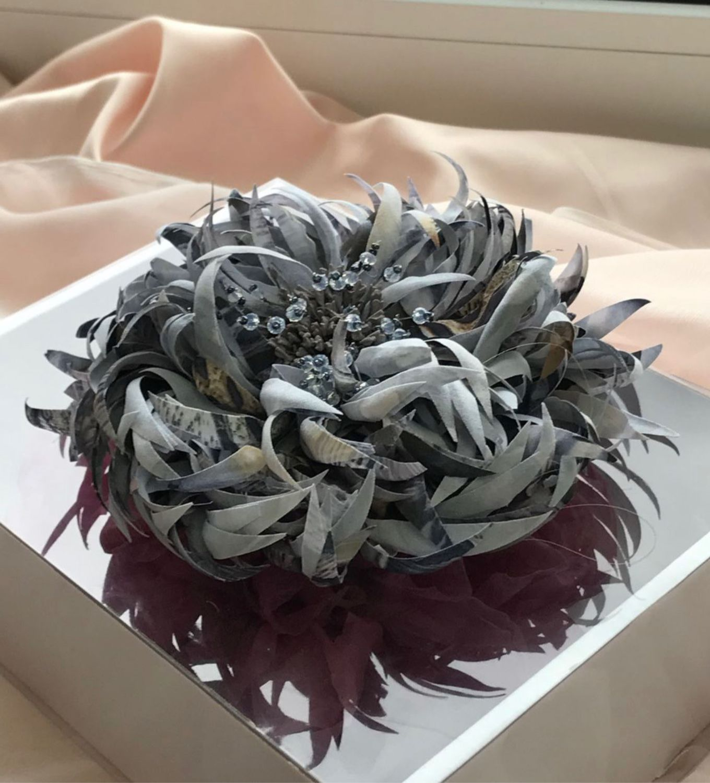 Броши: хризантема рандеву, Брошь-булавка, Москва,  Фото №1