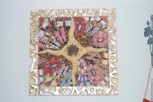Абстракция ручной работы. Ярмарка Мастеров - ручная работа. Купить Под солнцем. Handmade. Керамическая мозаика, картина, мозаика