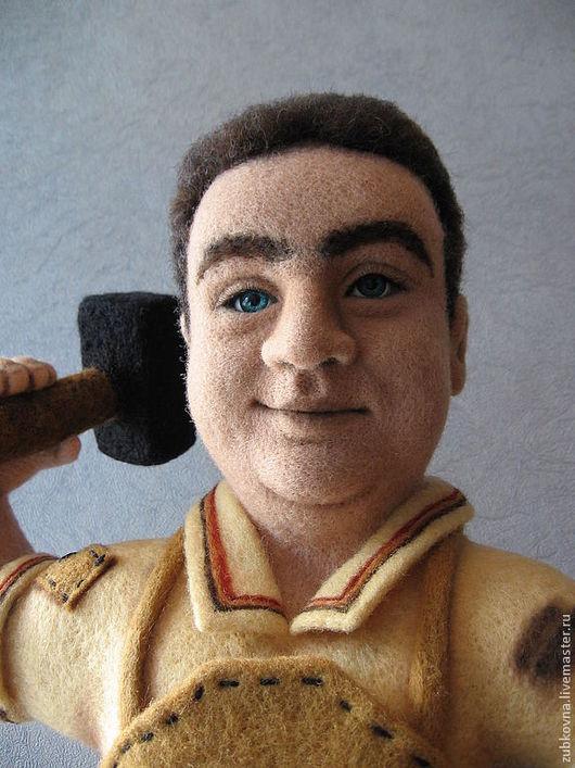 Портретные куклы ручной работы. Ярмарка Мастеров - ручная работа. Купить войлочный Камнетёс. Handmade. Портретная кукла, шерсть 100%
