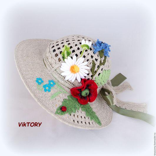 """Шляпы ручной работы. Ярмарка Мастеров - ручная работа. Купить Шляпа """"Полевые цветы"""".. Handmade. Шляпка, шляпа женская"""