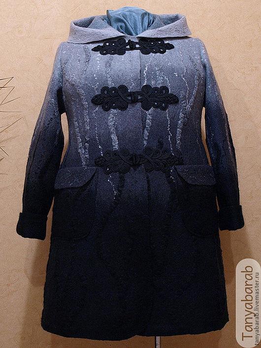 """Верхняя одежда ручной работы. Ярмарка Мастеров - ручная работа. Купить Пальто """"Сумерки"""". Handmade. Черный, шерсть"""