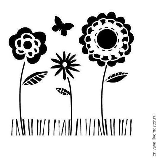 Декупаж и роспись ручной работы. Ярмарка Мастеров - ручная работа. Купить Трафарет-маска Summer Garden, 15х15 см. Handmade.