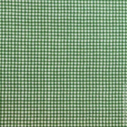 Шитье ручной работы. Ярмарка Мастеров - ручная работа. Купить Бязь Клетка-малютка зеленая 150 см. Handmade. Зеленый