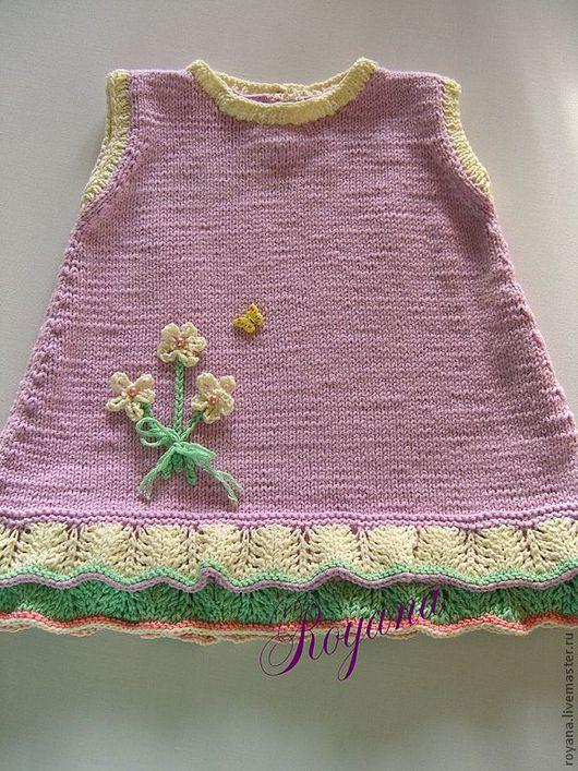Одежда для девочек, ручной работы. Ярмарка Мастеров - ручная работа. Купить Платье для малышки.. Handmade. Платье, платье для девочки, хлопок
