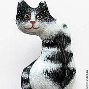 """Украшения ручной работы. Ярмарка Мастеров - ручная работа брошка """"Котик"""". Handmade."""