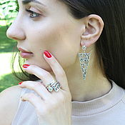 Украшения handmade. Livemaster - original item Svirl jewelry set made of silver SER0001. Handmade.