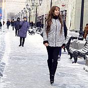Одежда ручной работы. Ярмарка Мастеров - ручная работа Зимняя удлиненная куртка с мехом норки. Handmade.