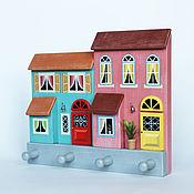Для дома и интерьера handmade. Livemaster - original item Key holders wall: HOUSES. Handmade.