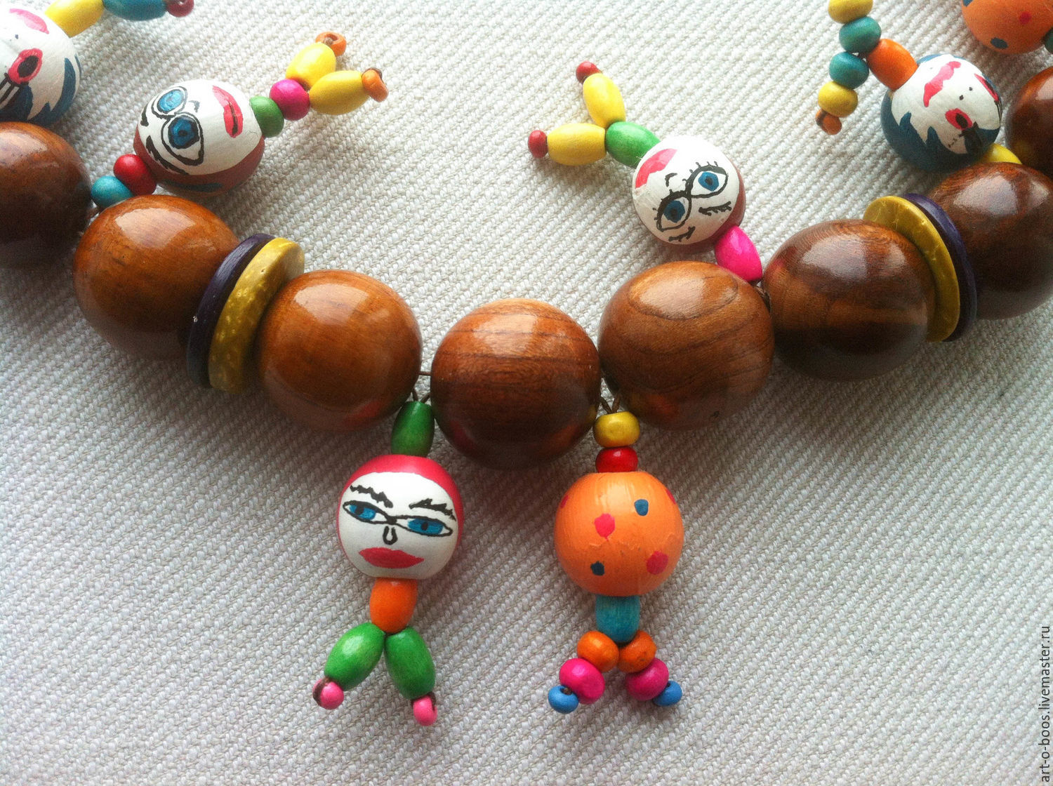 """Wooden necklace """"Happy radish"""", Necklace, Moscow,  Фото №1"""