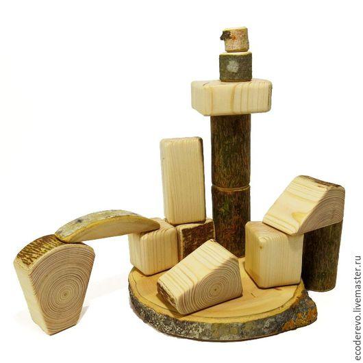 """Развивающие игрушки ручной работы. Ярмарка Мастеров - ручная работа. Купить Деревянный конструктор """"Лесное царство"""" 15 деталей. Handmade."""