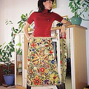 Одежда handmade. Livemaster - original item The winter embroidered Colourful skirt.. Handmade.