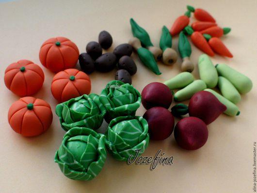 Еда ручной работы. Ярмарка Мастеров - ручная работа. Купить Овощи из полимерной глины. Handmade. Разноцветный, овощи из пластики