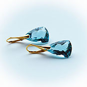Украшения handmade. Livemaster - original item 24K gold plated Topaz earrings. Handmade.