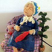 """Куклы и игрушки ручной работы. Ярмарка Мастеров - ручная работа """"Задремала"""" - миниатюра. Handmade."""