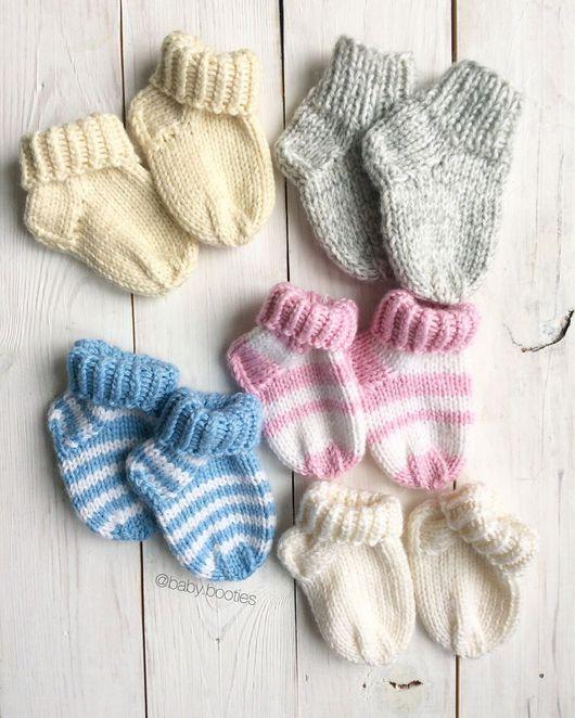Для новорожденных, ручной работы. Ярмарка Мастеров - ручная работа. Купить Носочки на малыша. Handmade. Носочки, носочки для мальчика
