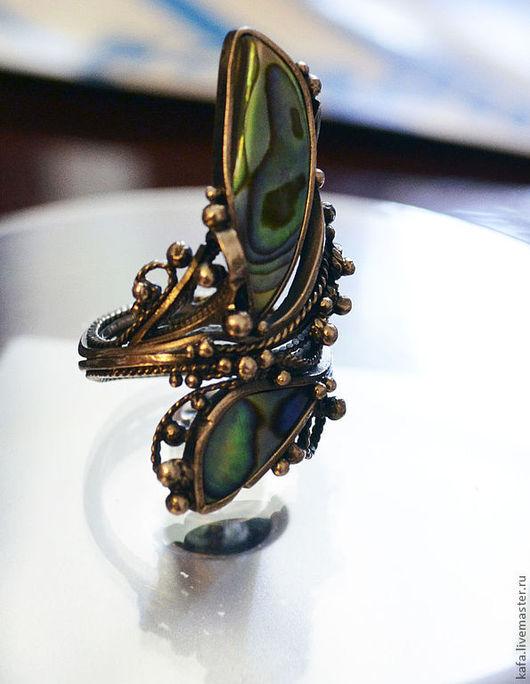 Кольца ручной работы. Ярмарка Мастеров - ручная работа. Купить кольцо с перламутром, ручная работа. Handmade. Кольцо с перламутром