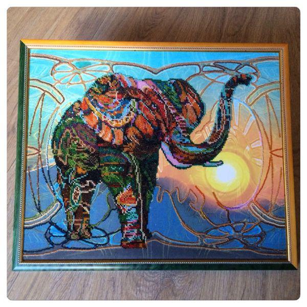 Вышивка бисером картины-животные