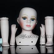 Материалы для творчества ручной работы. Ярмарка Мастеров - ручная работа Набор для изготовления куклы заготовка фарфор-керамика. Handmade.