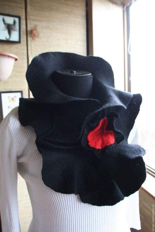 Шарфы и шарфики ручной работы. Ярмарка Мастеров - ручная работа. Купить Валяный шарф-горжетка-воротничок Kenzo. Handmade. Шарф