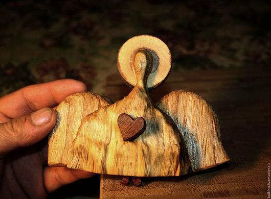Подарки на Пасху ручной работы. Ярмарка Мастеров - ручная работа. Купить Ангел бегающий. Handmade. Оранжевый, подарок ребенку, Дуб