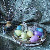 """Для дома и интерьера ручной работы. Ярмарка Мастеров - ручная работа Поднос для пасхальных яичек """" Пасхальная курочка"""". Handmade."""