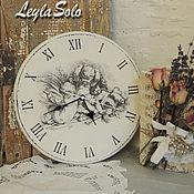 Для дома и интерьера ручной работы. Ярмарка Мастеров - ручная работа Часы настенные Часы и  ангелы. Handmade.