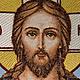 Иконы ручной работы. Вышитая икона Господа Иисуса Христа. Золотошвейка. Интернет-магазин Ярмарка Мастеров. Икона, господь вседержитель