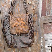Классическая сумка ручной работы. Ярмарка Мастеров - ручная работа сумка из натуральной кожи Французский узелок. Handmade.