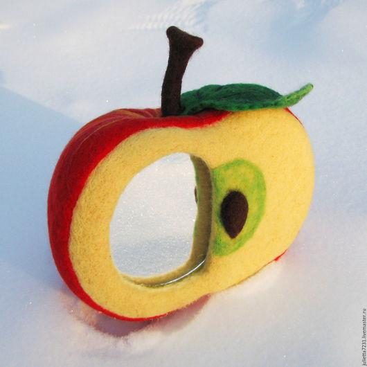 Зеркала ручной работы. Ярмарка Мастеров - ручная работа. Купить Яблочный блик 2. Handmade. Яблоко, яблоко-зеркало