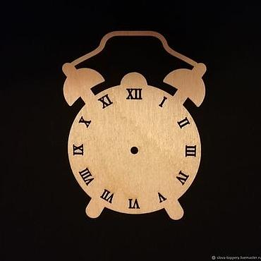 Материалы для творчества ручной работы. Ярмарка Мастеров - ручная работа Часы с римскими цифрами заготовка для бизиборд. Draft. Handmade.